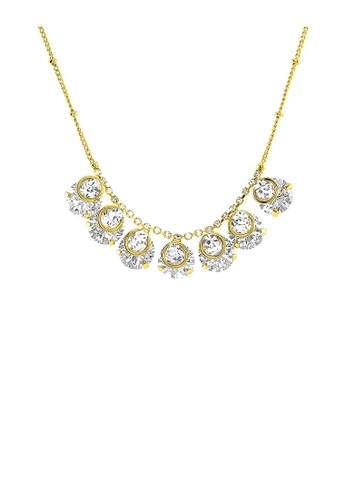 Glamorousky silver Glimmering Necklace with Silver Austrian Element Crystal 21D04AC10FE22BGS_1