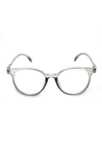 Evernoon grey Kacamata Wanita Motif Polos Transparan Fashionable Premium Quality - Gray 3165BGL65397FFGS_1