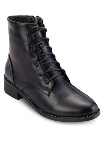 Cresprit outlet hong kongystal 騎士風繫帶短靴, 女鞋, 靴子