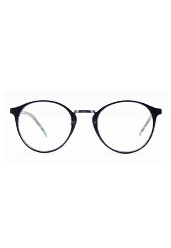 Kyfer's Eyewear & Essentials black Oversize Rounded Eyewear (Matt) KY376AC00MZBSG_1