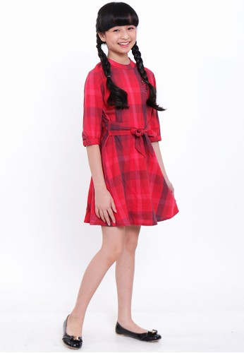EXIT GIRL red Glanni Checked Dress 7DCC0KAA9D4537GS_1