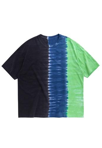 Twenty Eight Shoes Contrast Tie-Dyed Oversize T-Shirt 1228S20 DFE03AA9CC1722GS_1