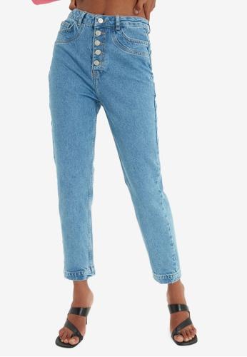 Trendyol blue High Waist Mom Jeans 617CAAAF6E7825GS_1