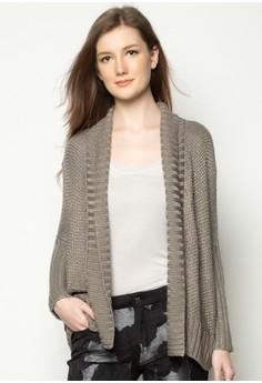 Dolman Sleeve Wrap Sweater