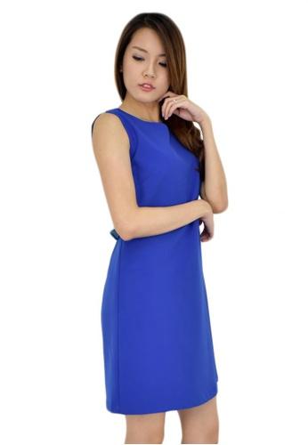 MOONRIVER blue Carrie Feminie Overlay Shift Dress MO886AA20OJZSG_1