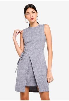 ZALORA blue Self Tie Formal Dress 4AFB3AA84547A3GS 1 09e8c7daa
