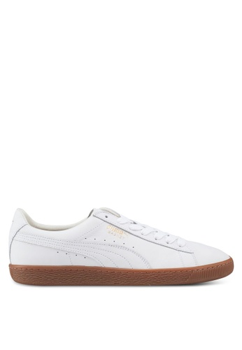 Puma white Prime Basket Classic Gum Deluxe Shoes 0FC6ESHFA68371GS_1