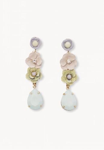 Pomelo multi Pastel Toned Floral Drop Earrings 038E3AC0E63DB2GS_1