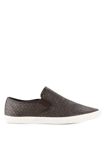 Minarno brown Minarno Brown Weave Slip-On MI641SH24XBBID_1