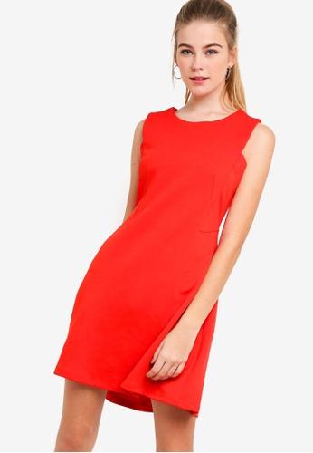 Something Borrowed 紅色 素色鉛筆短洋裝 01FEAAA641CFEEGS_1