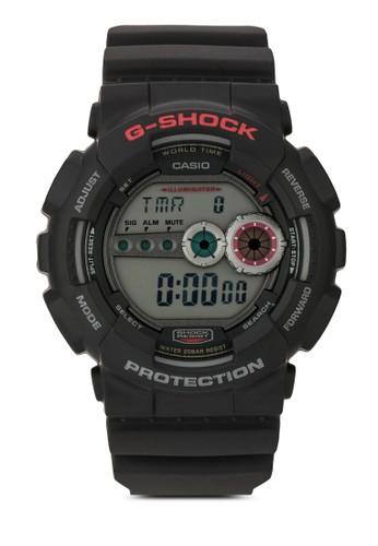 G-Shock GD-100-1ADR 數碼男士esprit 旺角手錶, 韓系時尚, 梳妝