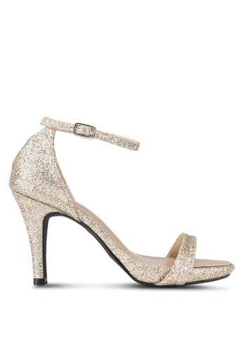 Christy Ng gold Chloe Gold Glitter Heels CH330SH0T0SCMY_1