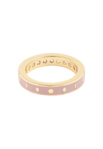 Wanderlust + Co gold Moon Phase Mauve & Gold Ring EB513ACF4D0443GS_1