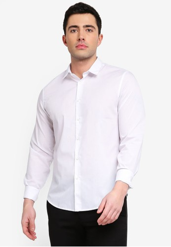 OVS white Solid Colour Shirt F0696AA95386E9GS_1