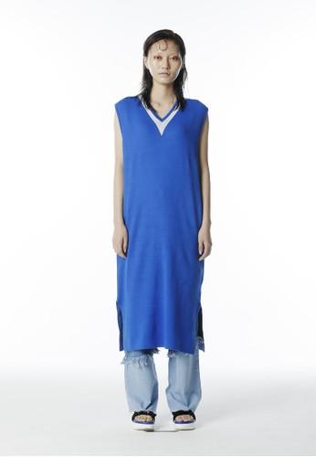 深V 針織連身裙、 服飾、 服飾rocketxlunch深V針織連身裙最新折價