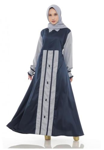 First Hijab grey Misha Dress in Grey D7DC8AA67CD81AGS_1