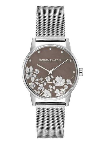 BCBG silver BCBGMAXAZRIA Silver Stainless Steel Mesh Watch CD8AEAC3A131FAGS_1