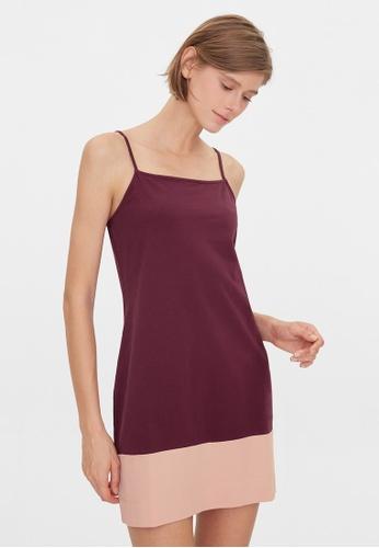 Pomelo purple Two Tone Slip Dress - Purple A2846AA4588119GS_1