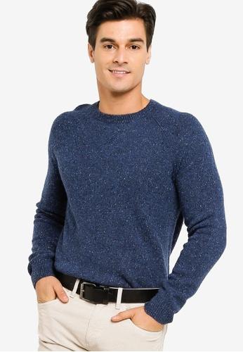 Brooks Brothers blue Brooks Brothers Donegal Crewneck Sweater CA6CEAAAAD4310GS_1