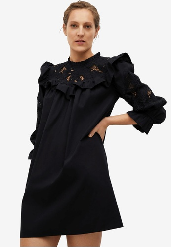 Mango black Swiss Embroidery Poplin Dress 47435AA01112A5GS_1