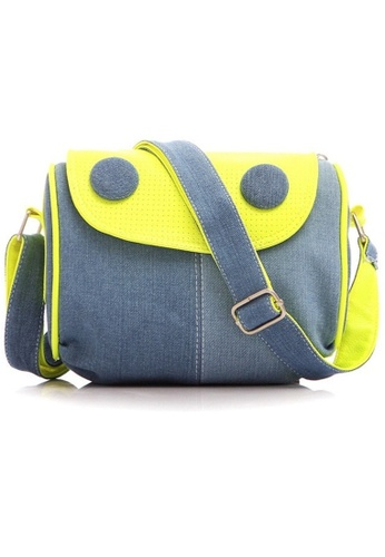 Jackbox green Eye Design Jeans Canvas Messenger Bag Sling Bag 331 (Green) JA762AC49URUMY_1