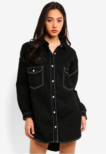 d86a4c2b553 Shop MISSGUIDED Petite Contrast Stitch Denim Dress Online on ZALORA  Philippines