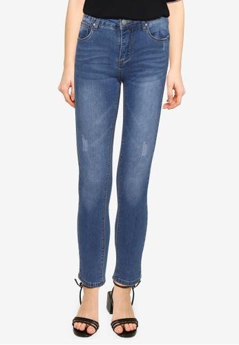 Nichii 藍色 High Stretch Skinny Jeans 4E81DAA62F2A64GS_1