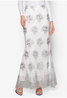 Lace Trumpet Skirt