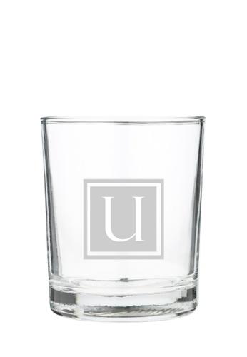 Myriad Print Concepts white Whisky Scotch Glass (Glass-etched Initial) 20775ESA2F1E61GS_1