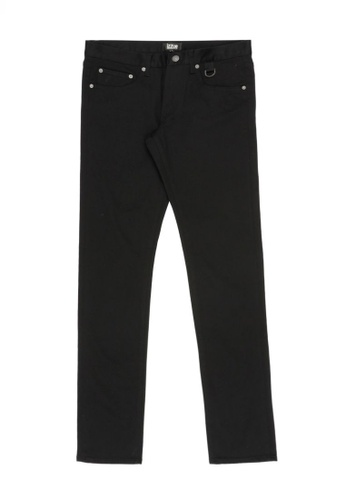 izzue black Slim-fit pants 1CAEEAAD2D2C6BGS_1