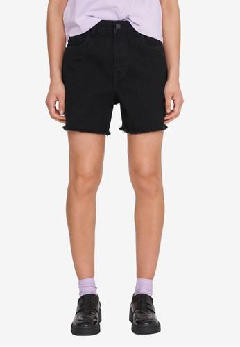 Noisy May black Katy High Waist Mom Cutline Shorts 520E6AAD62FBECGS_1