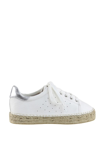 London Rag white White Lace-Up Sporty Sneakers CAE80SH4441E93GS_1