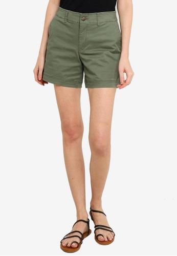 GAP green Tort Button Shorts 50DE6AAC82CBAAGS_1