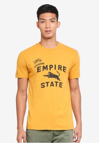J.Crew yellow Empire State Short Sleeve Tee 64202AA6C48EB1GS_1