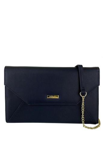 Mel&Co black Faux Leather Clutch Sling Bag 0D735ACF29600BGS_1