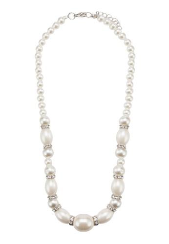 優雅珍珠項鍊,esprit outlet 飾品配件, 清新俏皮