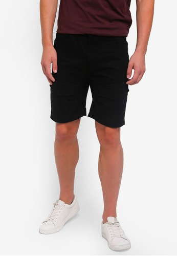 Only & Sons black Cooper Cargo Shorts F5EB8AABF042F0GS_1