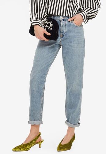 TOPSHOP blue MOTO Bleach Hayden Boyfriend Jeans TO412AA0SLBJMY_1