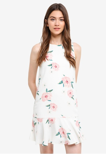 Something Borrowed white Fluted Hem Sleeveless Dress 0DDF8AACA2936AGS_1
