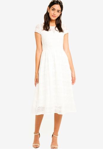 e2f3ec2080c3 Shop ZALORA Bridesmaid Lace Midi Fit   Flare Dress Online on ZALORA ...