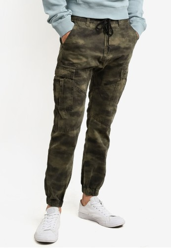 Cotton On green and multi Customised Drake Cuffed Pants CO372AA0RCQ5MY_1