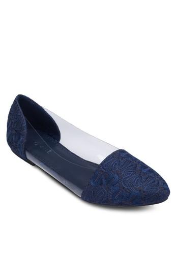 透明拼接尖頭平底鞋, zalora 心得 ptt女鞋, 鞋