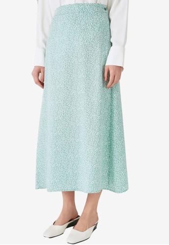 Trendyol green Floral Maxi Skirt B704BAACC5DA1BGS_1