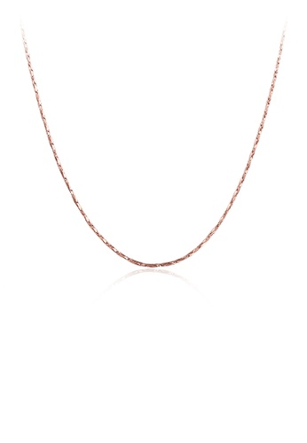 Glamorousky silver Simple and Fashion Plated Rose Gold Snake Necklace E9130AC2D086B8GS_1