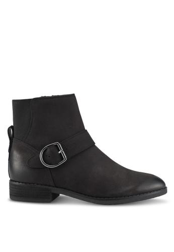 ALDO 黑色 皮革靴子 AL087SH0SE2BMY_1
