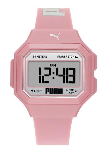 PUMA pink Mini Remix Watch P1057 8AB3EAC403C18DGS_1