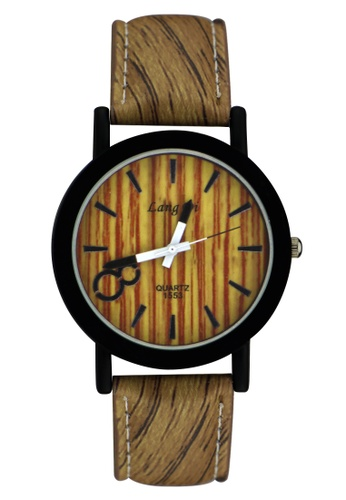 Dooka brown Lang Di Leather Strap Watch 1553 DO079AC61LEWPH_1