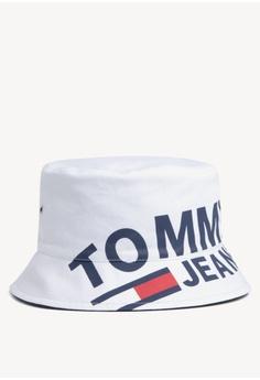 b6bbe29b782a0 Tommy Hilfiger white Tju Logo Bucket Hat 07094AC3B2CFE8GS 1