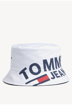 53520aa9ac252 Tommy Hilfiger white Tju Logo Bucket Hat 07094AC3B2CFE8GS 1