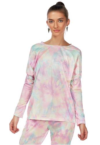 London Rag pink Pink Tie Dye Full Sleeve Top AB21FAA19F2759GS_1
